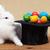 varázslatos · húsvét · nyúl · színes · tojások · bűvész - stock fotó © ilona75