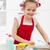 女の子 · ハウスキーピング · 料理 · 洗浄 · キッチン · 幸せ - ストックフォト © ilona75