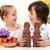 mutlu · çocuklar · easter · bunny · renkli · yumurta - stok fotoğraf © ilona75