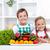 happy healthy kids with vegetables stock photo © ilona75