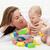 baby · ragazzo · giocare · colorato · blocchi · donna - foto d'archivio © ilona75