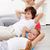 Kids with their mother doing gymnastic exercises stock photo © ilona75