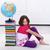 nina · aprender · geografía · cute · nina · libro - foto stock © ilona75