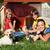 フロント · 表示 · 犬 · 木材 · 青 · 屋根 - ストックフォト © ilona75