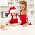 natal · diversão · cozinha · feliz · mulher · menina - foto stock © ilona75