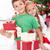 kardeşler · hediyeler · Noel · zaman · seven · kız - stok fotoğraf © ilona75