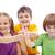 mosolyog · csoport · gyerekek · gyerekek · remek · iskola - stock fotó © ilona75