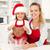 kurabiye · Noel · zaman · kadın · küçük · kız - stok fotoğraf © ilona75
