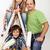 compito · felice · ragazzi · padre · pittura - foto d'archivio © ilona75