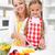 gelukkig · meisje · vegetarisch · eten · groenten · keuken · leuk · gelukkig - stockfoto © ilona75