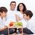 família · feliz · frutas · frescas · café · da · manhã · cozinha · família · comida - foto stock © ilona75