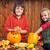 gyerekek · sütőtök · család · lány · arc · otthon - stock fotó © ilona75