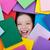 szczęśliwy · dziewczynka · ciężki · książek · odizolowany - zdjęcia stock © ilona75