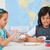 crianças · pintura · planetas · sistema · solar · escala · modelo - foto stock © ilona75