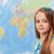 giovane · ragazza · mappa · del · mondo · geografia · classe · copia · spazio · mappa - foto d'archivio © ilona75