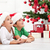 crianças · árvore · de · natal · piso · menina · sorrir - foto stock © ilona75