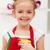 dziewczynka · czyszczenia · przybory · duży · szeroki · uśmiech · uśmiech - zdjęcia stock © ilona75