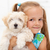 Little girl with her fluffy dog stock photo © ilona75