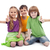 three kids giving thumbs up sign stock photo © ilona75