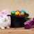 aranyos · húsvéti · nyuszi · tavaszi · virágok · színes · tojások · bűvész - stock fotó © ilona75