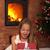 heyecanlı · küçük · kız · açılış · Noel · sunmak - stok fotoğraf © ilona75