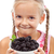 yummy blackberries   happy healthy girl with fresh fruits stock photo © ilona75