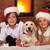 kids with their pets at christmas time stock photo © ilona75