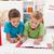kids doing math exercises on the floor stock photo © ilona75