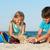 oynayan · çocuklar · plaj · Bina · kız · gülümseme - stok fotoğraf © ilona75