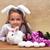 feliz · little · girl · primavera · rabino · sazonal · flores - foto stock © ilona75