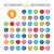 50 economy and business bubble icons stock photo © imaagio