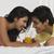 casal · suco · homem · potável · sorridente - foto stock © imagedb