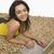 portret · vrouw · werken · laptop · jonge · mooie - stockfoto © imagedb