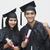 çift · mezuniyet · adam · iletişim · başarı - stok fotoğraf © imagedb