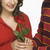 férfi · női · tart · piros · rózsa · odaadás · kettő - stock fotó © imagedb