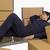 uyku · yalıtılmış · beyaz · işadamı · kutu - stok fotoğraf © imagedb