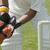 cricket · pelota · frente · rojo · cuero · aislado - foto stock © imagedb