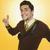 портрет · бизнесмен · улыбаясь · пальцы · бизнеса · человека - Сток-фото © imagedb