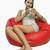 女性 · 座って · カップ · コーヒー · 肖像 - ストックフォト © imagedb