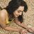 vrouw · werken · laptop · jonge · mooie - stockfoto © imagedb