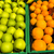 granny smith apples and oranges in the crates for sale at a mark stock photo © imagedb
