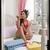 mujer · cama · esmalte · de · uñas · mujer · bonita · mano - foto stock © imagedb