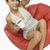 女性 · 座って · カップ · コーヒー · 笑顔 - ストックフォト © imagedb
