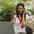 glimlachende · vrouw · creditcard · praten · mobiele · telefoon · foto - stockfoto © imagedb