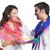 couple celebrating holi festival stock photo © imagedb