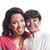 retrato · de · família · tradicional · indiano · roupa · little · girl · sessão - foto stock © imagedb