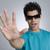 человека · Солнцезащитные · очки · знак · остановки · стороны · Blue · Sky - Сток-фото © imagedb