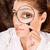 researcher looking through magnifier glass stock photo © imarin
