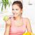 gelukkig · vrouw · home · vruchten · jonge · handen - stockfoto © imarin
