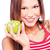 mulher · verde · maçã · branco · fruto - foto stock © imarin